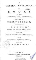 General Catalogue Of Printed Books [Pdf/ePub] eBook