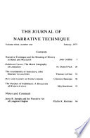 The Journal of Narrative Technique