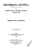 Bibliografia española
