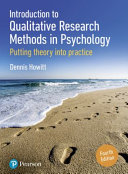 Introduction to Qualitative Research Methods in Psychology Book
