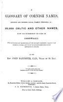 A Glossary Of Cornish Names