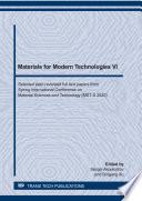 Materials for Modern Technologies VI