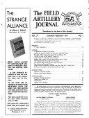 The Field Artillery Journal
