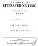 ALLGEMEINE LITERATUR-ZEITUNG VOM JAHRE 1810
