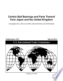 Certain Bearings From Japan And The United Kingdom Invs 731 Ta 394a And 399a Second Review Fourth Remand
