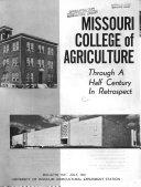 The Missouri College Of Agriculture Through Half A Century