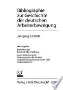Bibliographie zur Geschichte der deutschen Arbeiterbewegung