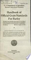 Handbook of Official Grain Standards for Barley