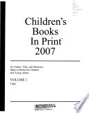Children's Books in Print, 2007