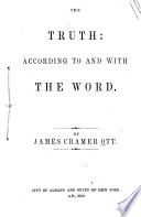 The Truth  According to and with the Word Book PDF