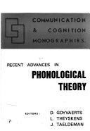 Recent Advances in Phonological Theory