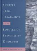 Shorter Term Treatments for Borderline Personality Disorders Book PDF