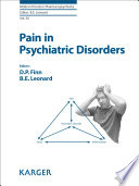 Pain in Psychiatric Disorders