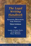 The Legal Writing Handbook