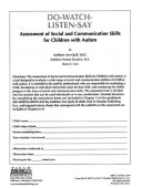 Assessment of Social and Communication Skills for Children with Autism