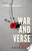 War And Verse Poetry And Prose Of World War One