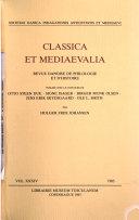 Read Online Classica Et Mediaevalia For Free