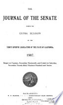 Journals of the Senate and Assembly California Legislature Book PDF