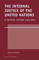 The Internal Justice of the United Nations