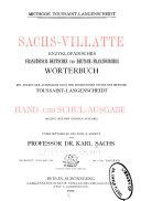 ... Sachs-Villatte enzyklopädisches französisch-deutsches und deutsch-französisches wörterbuch