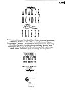 Awards  Honors and Prizes