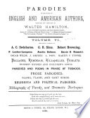Parodies of the Works of English   American Authors Book