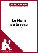 Le Nom de la rose d'Umberto Eco (Fiche de lecture)