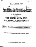 The Small City and Regional Community