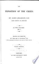 Exposition of the Creed     rev  and cor  by E  Burton     3d ed  1847