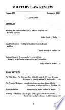 Military Law Review Book