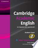 Cambridge Academic English B2 Upper Intermediate Student s Book