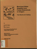 Municipal Water Supplies from Forest Watersheds in Oregon