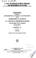 S  1418  the Methane Hydrate Research and Development Act of 1998