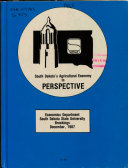 South Dakota s Agricultural Economy in Perspective Book