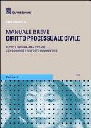 Diritto processuale civile. Manuale breve. Tutto il programma d'esame con domande e risposte commentate ebook