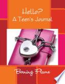 Hello    A Teen s Journal Book