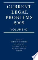 Current Legal Problems 2009 Book