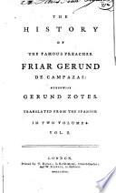 The History of the Famous Preacher, Friar Gerund de Campazas