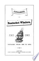 Catalogue of Nantucket Whalers