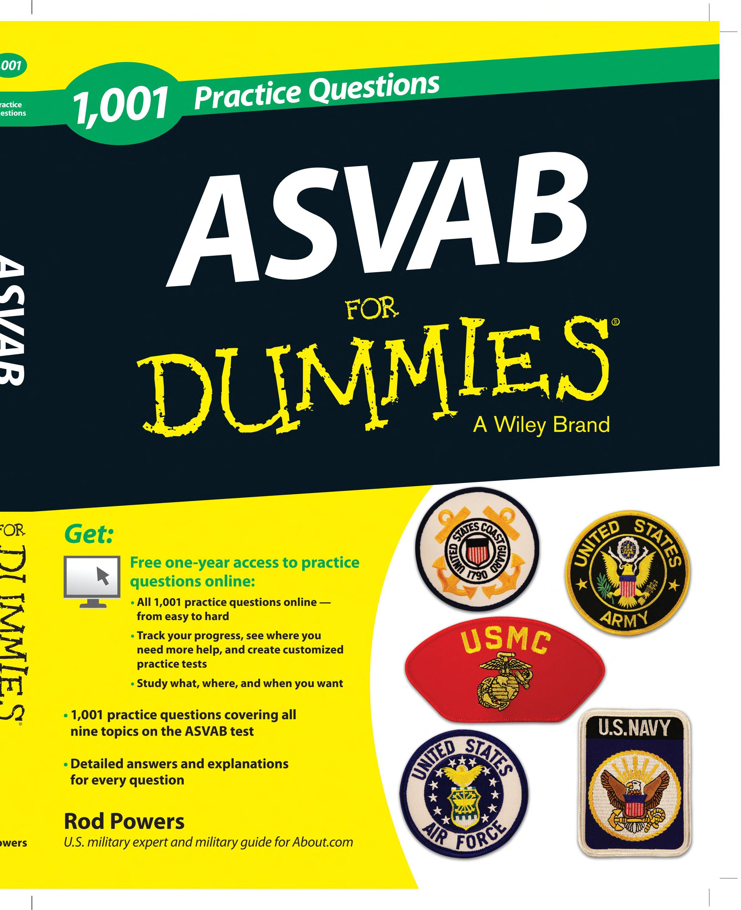 1 001 ASVAB Practice Questions For Dummies    Free Online Practice
