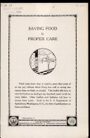 Saving Food by Proper Care