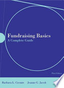 """Fundraising Basics: A Complete Guide"" by Barbara L. Ciconte, Jeanne Jacob"
