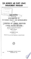 Hearings, Reports and Prints of the Senate Committee on Armed Services