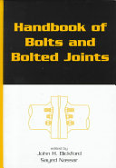 Handbook of Bolts and Bolted Joints ebook
