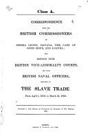 Correspondence with the British Commissioners at Sierra Leone