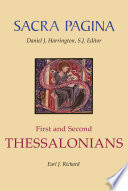 Sacra Pagina First And Second Thessalonians