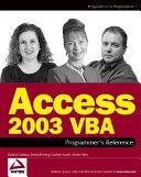 Access 2003 VBA Programmer s Reference