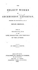 Pdf The Select Works of Archbishop Leighton