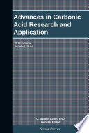 Advances In Carbonic Acid Research And Application 2013 Edition Book PDF