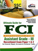 Ultimate Guide For Fci Assistant Grade Iii Recruitment Exam Paper 1 2